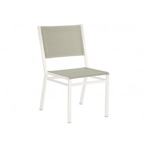 Barlow Tyrie Equinox Side Chair Powder Coated Arctic White