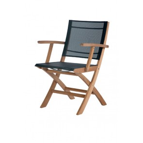 Barlow Tyrie Horizon Folding Carver Chair Charcoal