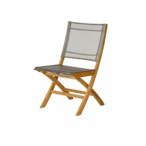 Barlow Tyrie Horizon Folding Side Chair Titanium