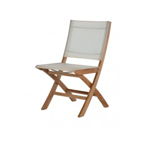 Barlow Tyrie Horizon Folding Side Chair Pearl