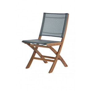 Barlow Tyrie Horizon Folding Side Chair Platinum