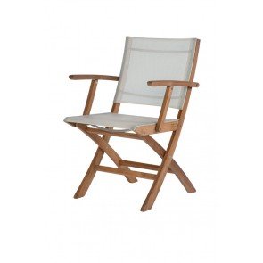 Barlow Tyrie Horizon Folding Carver Chair Pearl