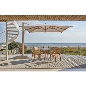 Barlow Tyrie Napoli 3.5m Square Cantilever Parasol