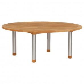 50% DISCOUNT | Barlow Tyrie Ex Display Equinox 180cm Teak Top Table & Lazy Susan