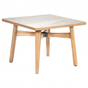 Barlow Tyrie Monterey Dining Table Square 100cm - Teak & Ceramic - Frost