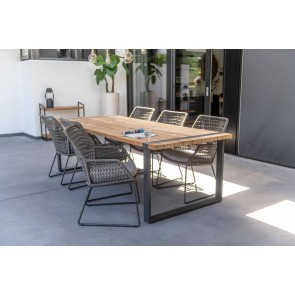 30% DISCOUNT | 4 Seasons Outdoor Alto Dining Table 6 Seat with Babylonia Chairs