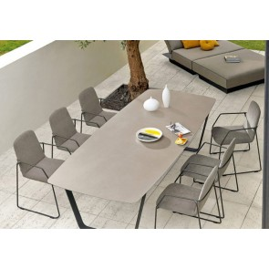 Manutti Air Dining Table - 264  x 118 - (Lava Frame with Ceramic)