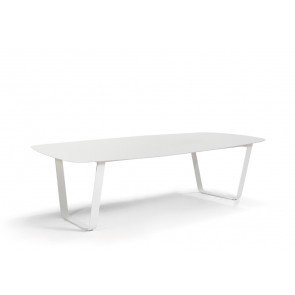 Manutti Air Dining Table - 264  x 118 - (White Frame with Ceramic)