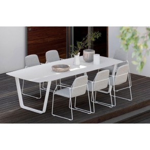 Manutti Air Dining Table - 264  x 118 - (White Frame with White Ceramic)
