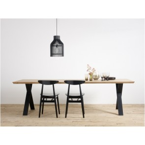 Vincent Sheppard Albert X Frame Dining Table - 1 Piece Top