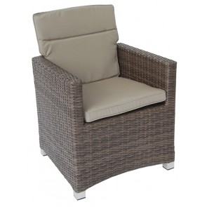 CLEARANCE 70% OFF *** 4 x Seville Armchair New Brown **NO CUSHIONS** £54 Each