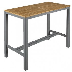 Barlow Tyrie Aura High Dining Table Graphite - 140cm