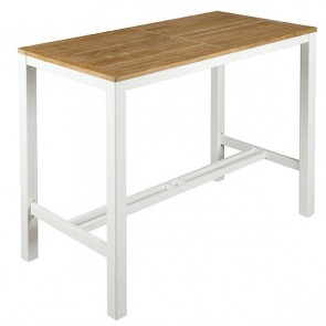 Barlow Tyrie Aura High Dining Table Arctic White - 140cm