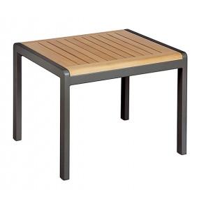 Barlow Tyrie Aura Low Table Rectangular Teak Top Graphite
