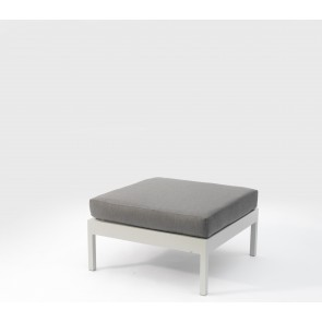 Leoni Outdoor Ottoman Grey