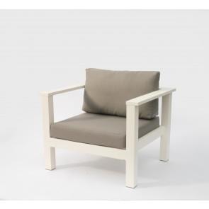 Leoni Outdoor Armchair White