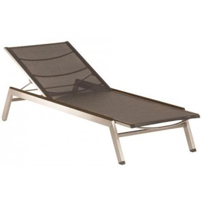 Barlow Tyrie Equinox Sun Lounger Charcoal With Graphite Armrest