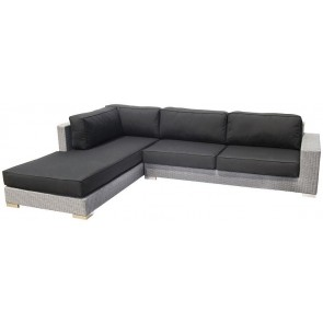 Spring Chaise Set Silver Grey