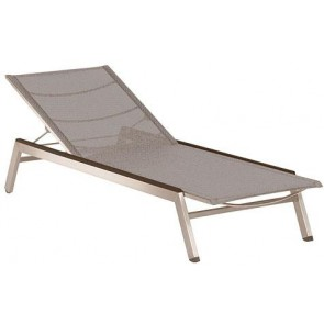Barlow Tyrie Equinox Sun Lounger Platinum With Graphite Armrest