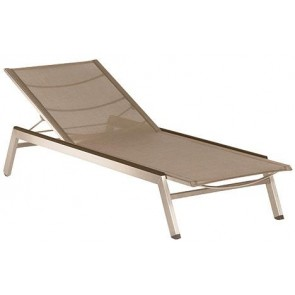 Barlow Tyrie Equinox Sun Lounger Titanium With Graphite Armrest