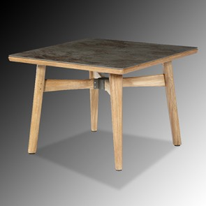 Barlow Tyrie Monterey Dining Table Square 100cm - Teak & Ceramic - Oxide