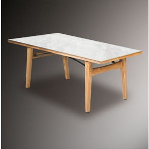 Barlow Tyrie Monterey Dining Table 200cm - Teak & Ceramic - Frost