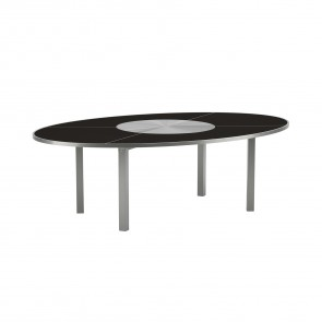 O-Zon 240cm Oval Dining Table With Stainless Steel Centre OZN 240 S