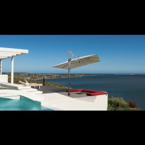 Glatz Sombrano Cantilever Parasol 3m x 3m Square Including Movable Base
