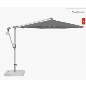 20% Discount on Glatz | Sunwing  3m Round Parasol with Granite and Stone Grey Canopy