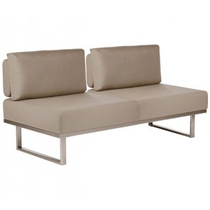 Barlow Tyrie Mercury Deep Seating Sofa Taupe
