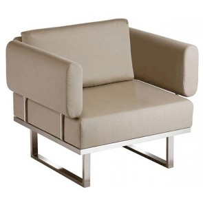 Barlow Tyrie Mercury Deep Seating Armchair Taupe